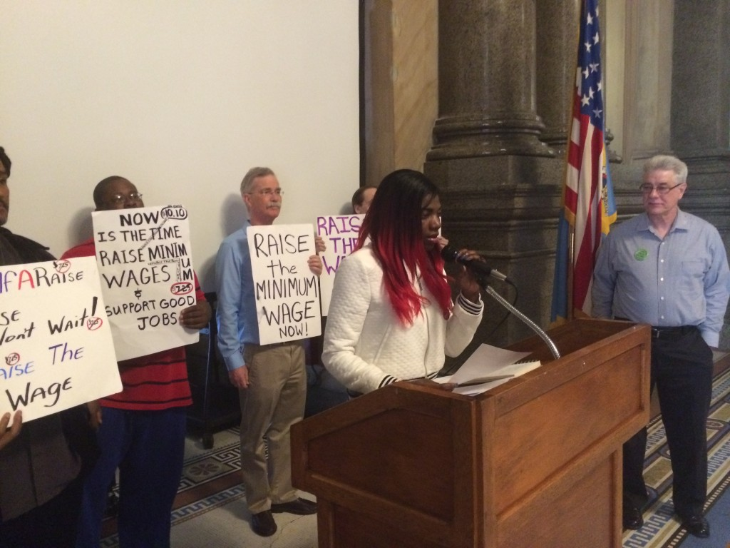 Fast food worker Ivory Bishop talks about what a raise in the minimum wage would mean for her.